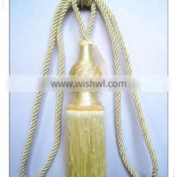 Decorative tieback tie back tassel in gourd style, gold tassels and cords china supply Quality Choice