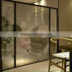 Living Room Flower Wired Glass 8mm Laminated Glass For Sale