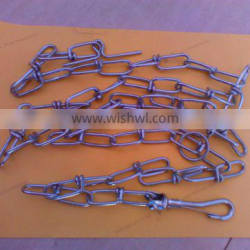 zinc plated dog chain with soft lead