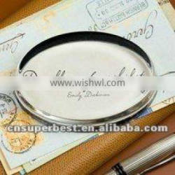 Round acrylic crystal magnifier block/paper weight