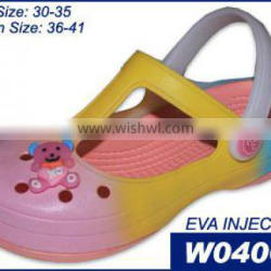 Clear PVC Women Jelly Clog Shoes