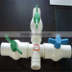 4 way water valve for irrigation pipe