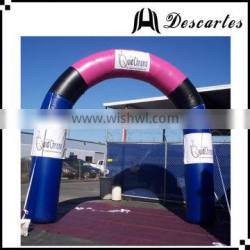 OEM design inflatable circle race archeway gate, inflatable finish line arch for customized
