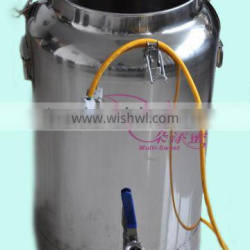 Stainless Steel honey can with valve