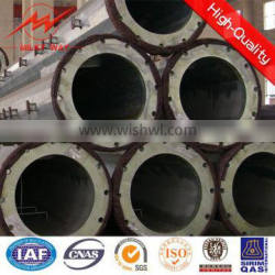 110KV Outdoor 30FT-90FT treated steel pole price for Philipine