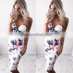 LM2861Q 2017 Aliexpress sleeveless printing casual dresses sexy wrap skirts