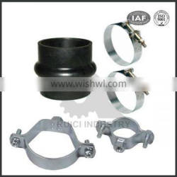 high pressure stainless steel pipe clamps with epdm rubber lining