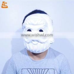white halloween party mask leather latex mask real human face party mask for men