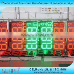 Outdoor LED gas price sign led oil price sign led gas price changer led fuel price sign