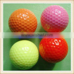 high quality two piece colorful golf ball paint