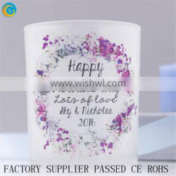 personalised birthday wreath candle holder sets wholesale souniver printed message candle jars wholesale frosted