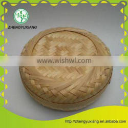 Bamboo woven candy tea cake box with lid