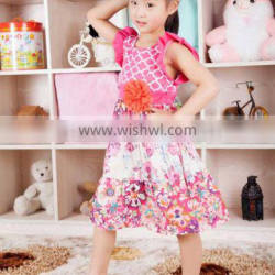 baby girl red flower dress baby girl party dress kids casual cotton party dress