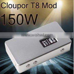 Hot Newest Coming! upgrade rda battery cloupor mini cloupor T8 150w mod in stock