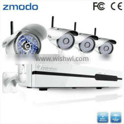 Zmodo 4CH NVR Outdoor Wifi IP Security Recordable Camera System Wireless