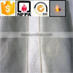 China suppliers 100% polyester luxury brilliant high quality fire retardant wholesale curtain cloth fabric