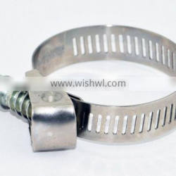 Perforated band American type quick released hose clamp