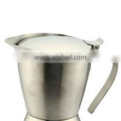 18/8 stainless steel double wall insulated gravy boat with lid