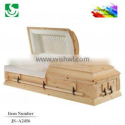 larch knot direct sale with velvet interior casket lowering