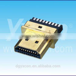 Dongguan factory 19P male high quality HDMI connector