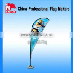 high quality outdoor advertising Aluminum Lighted feather Flag Poles