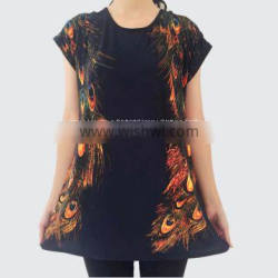 2019 New Summer Middle and Old Women's Short Sleeved T-shirt Large Code Loose Ice Mother dressed clothes source