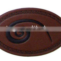 Leather clothes label