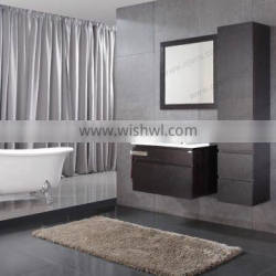 Vanity bathroom cabinet with stainless steel decorative