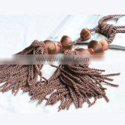 fancy curtain tiebacks with tassel used for home decorative