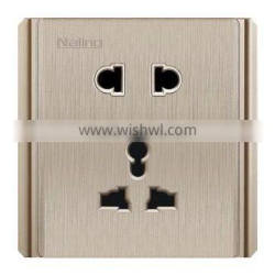 brushed champagne 2 pin US & 3pin AU multi-funcational electrical wall socket outlet