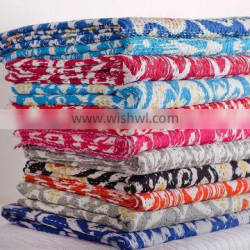 Best Quality king vintage indian sari quilt/indian handmade quilts/ indian quilt-Ikat kantha quilts