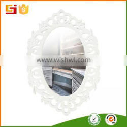 Large fancy carved wooden decorative oval mirror frames for girls