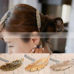 leaf hair clip for girl to hold the bang