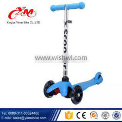 Customize Kids Kick Scooter with Wide Deck/New model patented Kids Pedal Kick Scooter/Baby Kick Scooter with light