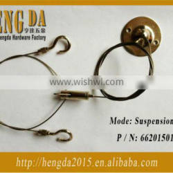 Wire rope suspenstion kit with simplex hooks and S hooks