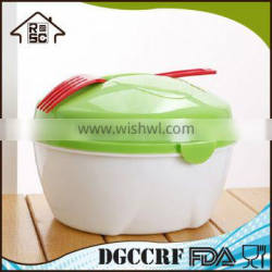 Multifunctional lunch box with folk compartments cutlery set