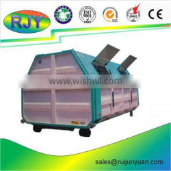 big sheet metal garbage container car hopper of refuse collector