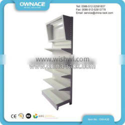 Metal Supermarket Display Gondola Wall Shelf with Canopy on the Top