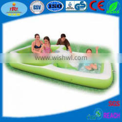 Inflatable Giant Quadrate Swimming Pool with Slide