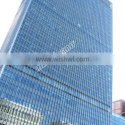 3-6mm Reflective Glass Coated Glass Curtain Wall