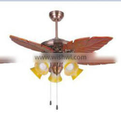 traditional carven leaves ceiling fan with light