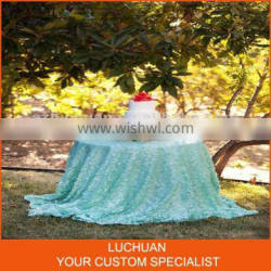 Party Beautiful Decoration Light Blue Sequin 132 Round Tablecloth