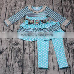 Fall and winter wholesale clothing baby girls ruffles boutique outfits
