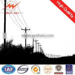 Middle Power Pole Electric Telegraph Steel Pole for Sale