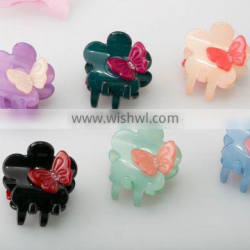 Goody colors hair accessory resin material hair claws for hair extension babies hair claw clip with butterfly