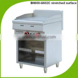(BN600-G602C) Commerical stainless steel flat steel plate,gas range with burners and griddle,equipments for restaurants
