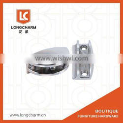 YL-070 GB zinc alloy chrome plated half Round Glass Clamp Clip