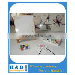 line printed canvas paint board