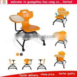 2016 China guangzhou high quality plastic chair with small desk