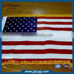 National flag printed in woven polyester fabric